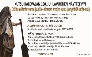 Esiäitien elämänvoiman juurilla -näyttely 21.8.2015-10.1. 2016