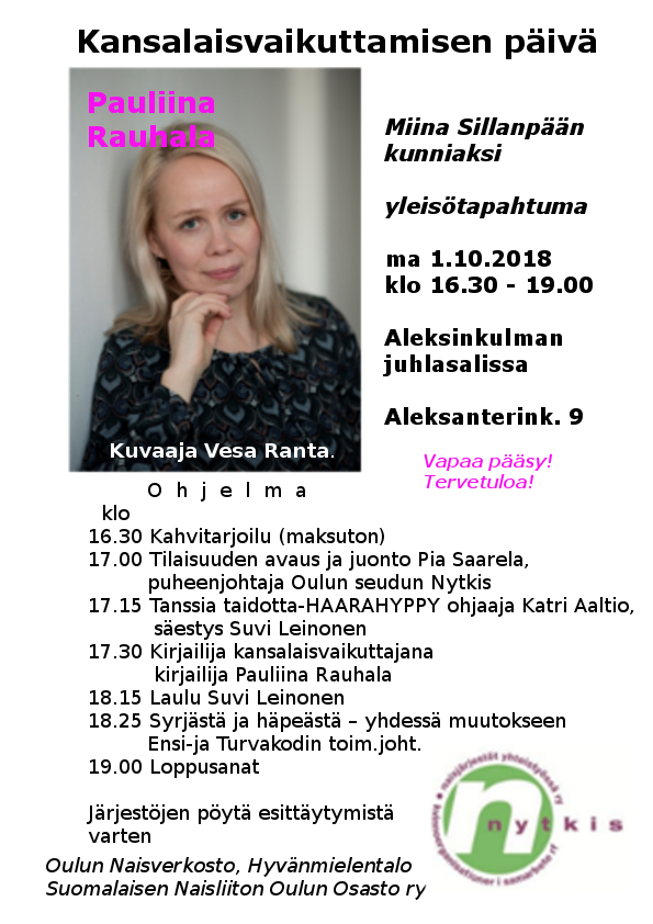 Kansalaisvaikuttamisen päivän tapahtuma 1.10. 2018