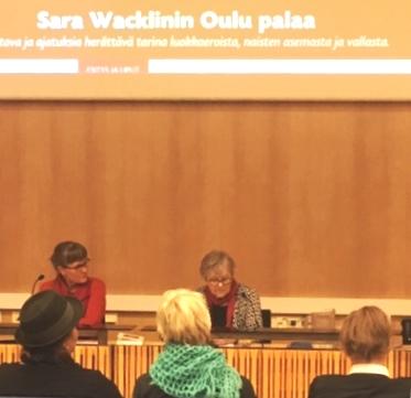 Oulu palaa – Sara Wacklinia teatterissa